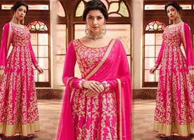 Latest Cape Pattern Anarkali Dress Designs: Indian Party Wear Long Gown Suits & Floor Length Dresses