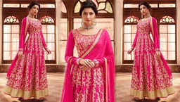Latest Cape Pattern Anarkali Dress Designs: Indian Party Wear Long Gown Suits & Floor Length Dresses