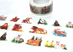 Animal washi tape 10M x 2cm wild life animal forest animal rabbit duck deer elk panda squirrel monkey lion masking tape animal sticker tape