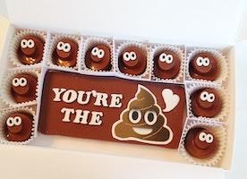 Poop Emoji Chocolates Make A Fun Birthday or Gag Gift