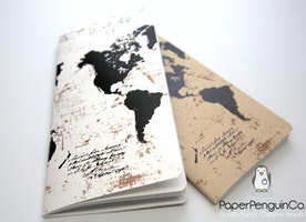 World Map Travelers Notebook