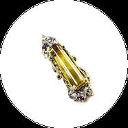 "Garnet pendant with Amber ""Heritage"""