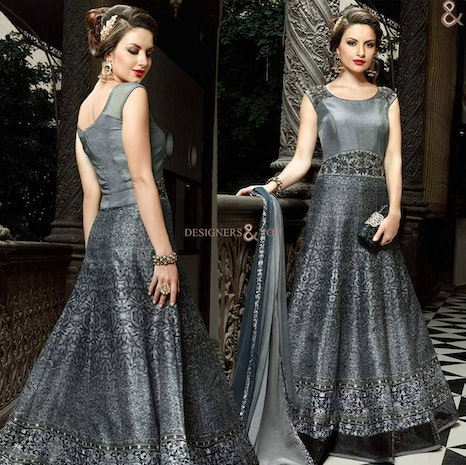 54fb4599ec Womens Indo Western Designer Party Wear Long Gowns: Girls 2017 Best Indian  Latest Gown Dress