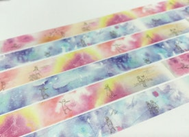 making yourself dream washi tape 3M dreamland masking tape fairy tale meditation dream flying on sky sticker tape watercolor world planner diary gift
