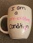 I am a pre-existing condition custom mug health care bill trumpcare survivor present friend gift American Health Care Act