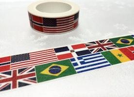 country flags sticker flag Washi Masking tape 10M United states United Kingdom Brazil Greece Norway flag sticker tape international flag