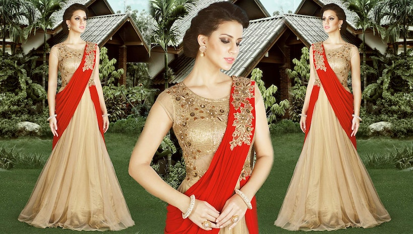 Gown Dress Indo Western Styles: Party Wear Long Designer Gowns ...