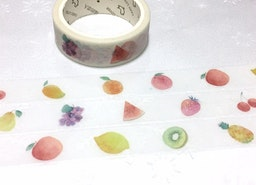 Fruit washi tape 7M apple strawberry lemon kiwi grapes orange mango watermelon cherry pineapple sticker tape fruit theme party decor