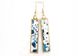 Splatter Painted Earrings: Ethereal Ink Colorway