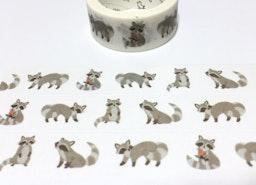 raccoon washi tape raccoon sticker tape cute animal rare animal cartoon animal raccoon theme masking tape forest animal deco scrapbook gift