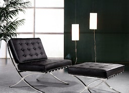 Experience Sophisticated Living With Full Black Ottoman Lounge Set In Your Home!