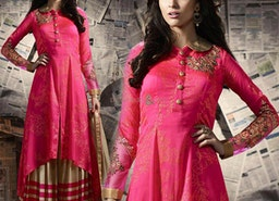 Lovely Pink Georgette Designer Suit For Fahsionistas