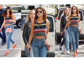 Selena Gomez Colorful Outfit Is Perfect To Copy For A Casual Summer Day
