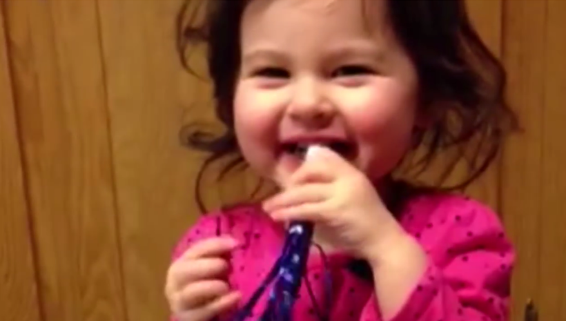 This little girl's laugh will make your day!