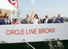 Spotted: Brooke Shields Christened New Circle Line Bronx & Staten Island Vessels