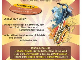 Third Annual Coltrane Day Music Festival:  Music Workshops & Community Jams From Ages 14+ Saturday, July 22nd