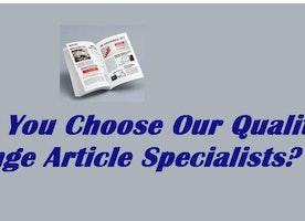 Should You Choose Our Quality Arrange Article Specialists?