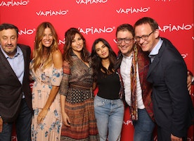 Kelly Bensimon, Gina Gershon And Diane Guerrero At Vapiano NYC