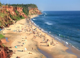 Varkala cliff beach - Sun Kissed Beach in Kerala