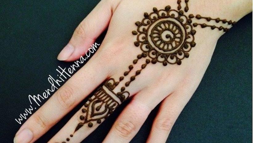Gambar Henna Pengantin Mogul