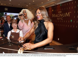 Laverne Cox At Magnum New York Celebrate Pride