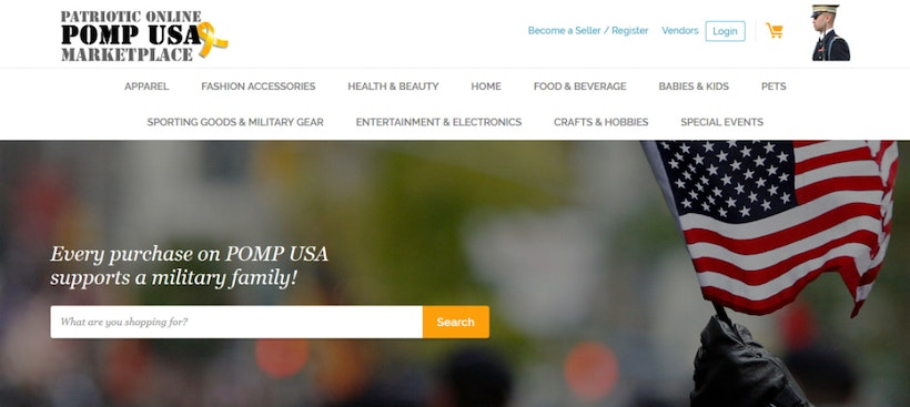 New website launches for veterans and military spouses to buy and sell products – PompUSA