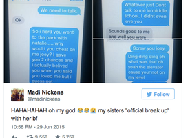 Wowie Zowie, This Breakup Text Battle by 11-Year-Olds is EPIC (Epically Awesome, that is)