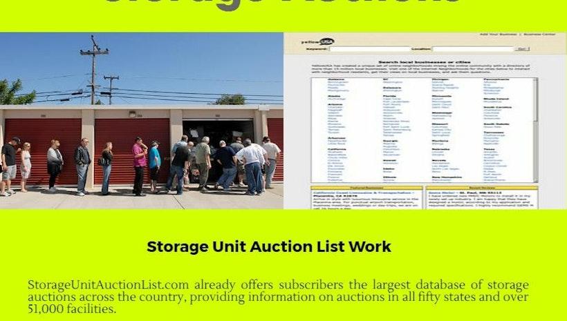 Storage Auctions Online Auction