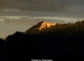 Montefollonico at sunset