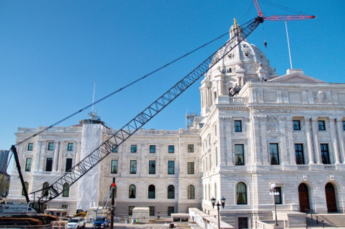 Chatter: Crane Coming Down, Capitol About Ready