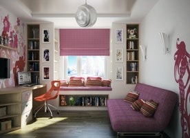 Decorating Interior for Girls. Scalamandre Zebra Wallpapers for a Children's Room with Feminine Accents