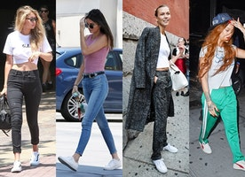 Time To Lace Up: Celebrity Sneakers Do Some Fancy Walking In 2017
