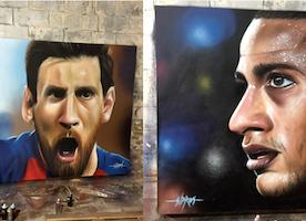 Art Miami Presents Soccer Star Portraits for El Clasico Miami