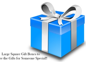 Large Square Gift Boxes to Store the Gifts for Someone Special!!