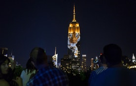 Cecil The Lion Projected On Empire State Building Along with 160 Endangered Species