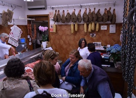 At the butcher in Cortona