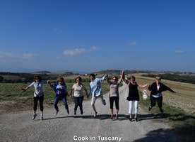 Jumping for joy...in Tuscany