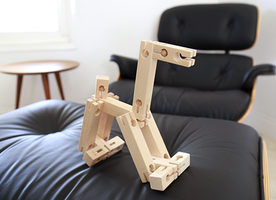 Wooden Building Blocks with Connecting Joints