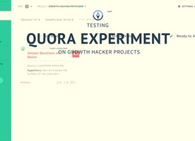 Testing Quora Experiment On Growth Hacker Projects