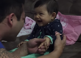 Watch daddy and his baby girl have the cutest manicure session ever!