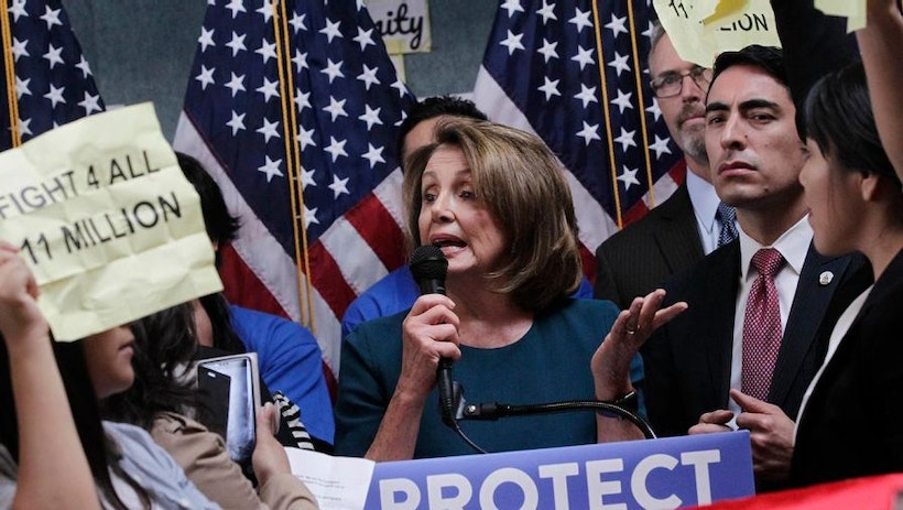 #FACETHERACE Nancy Pelosi Confornted by Immigration Rights Protesters