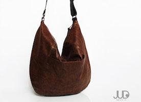 Brown Leather bag - Hobo leather bag - soft leather purse SALE leather shoulder bag - crossbody bag - large leather bag - large hobo bag