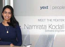 Meet the Yexter: Namrata Kodali, Software Engineer