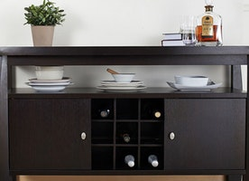 Decorative Element to Your Dining Room: Buffet Furniture Perfect Combo