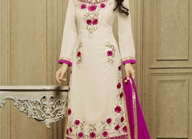 CLASSICAL STONE AND FLORAL WORK PARTY WEAR SALWAR KAMEEZ