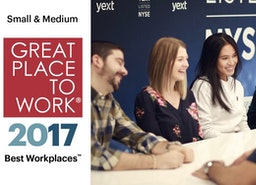 Yext Named to Great Place to Work® 2017 Best Small & Medium Workplaces List
