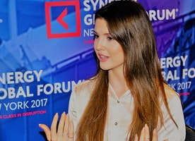 Actress Amanda Cerny Discusses Using Her Influence for Charity at the 2017 Synergy Global Forum