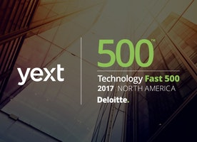 Yext Named to Deloitte's 2017 Technology Fast 500™