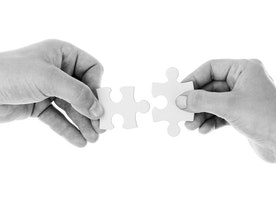 A business partnership is like a marriage; one is tougher than the other