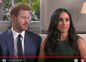 The first interview with Prince Harry and Meghan Markle after they got engaged.
